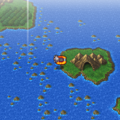 Adamant Isle Grotto on the world map (PSP).