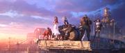 Final Fantasy VII Remake key art Midgar Highway