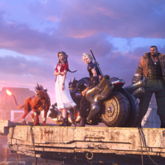 Key art for <i>Final Fantasy VII Remake</i>.