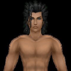 Модель Зака в плавках в <i>Crisis Core -Final Fantasy VII-</i>.