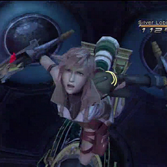 Lightning about to perform Zantetsuken in <i><a href=
