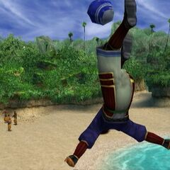 Beclem playing blitzball.