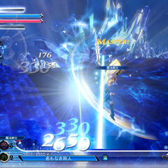 Bartz, Firion e o Warrior of Light vs. o Onion Knight, Cloud e Cecil em uma arena cristalina.