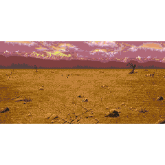 Battle background (wastelands) (GBA).