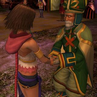 Maechen da la mano a Yuna.
