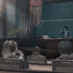 Kazusa, Emina e Kurasame na Primeira Classe.