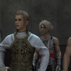 Balthier with the party.