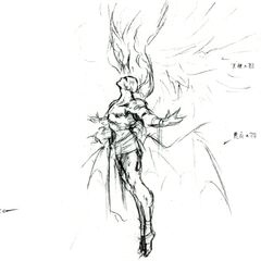 Концепт-арт Кефки в форме финального босса.