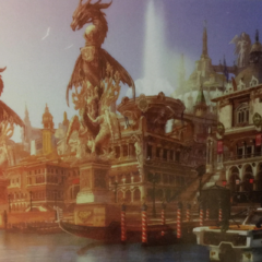 Altissia with Leviathan statues.