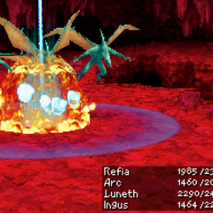Mega Flare as a summon ability in <i><a href=