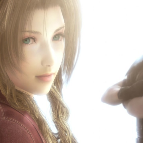Aerith and Zack at the ending.