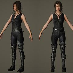 Модель персонажа без капюшона.
