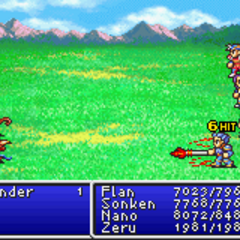 Flame Lance in <i>Final Fantasy II</i> (GBA).