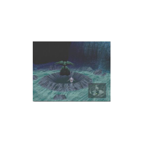 Underwater crater with Emerald Weapon standing by above