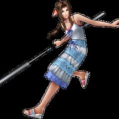 <i>Crisis Core</i> outfit render from <i>Dissidia 012</i>.