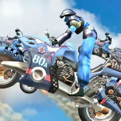 Galbadian motorcyclists in <i>Final Fantasy VIII</i>.