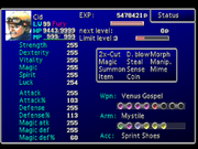 FFVII Status Screen 1