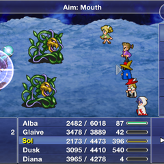 Aim: Mouth.