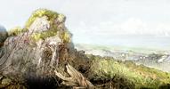 Highlands cutscene concept 3 for Final Fantasy III 3D