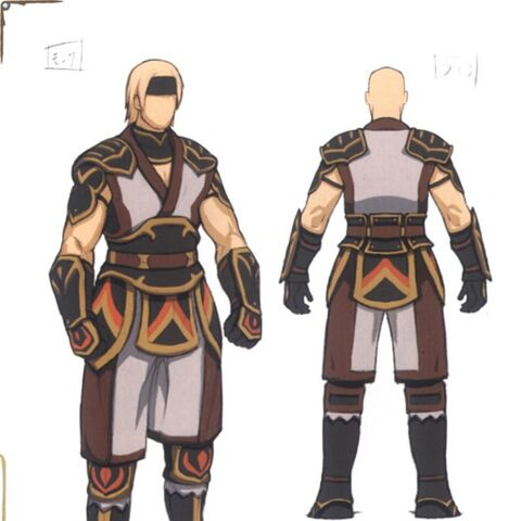 Concept art of the Monk.