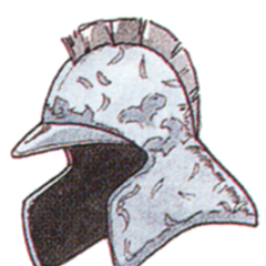 Official art of Mythril Helm from <i>Final Fantasy III</i>.