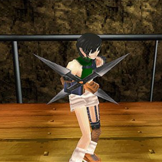 Yuffie's in-game model.
