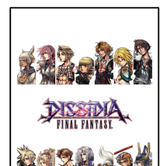 Limited gift (a blanket) for guests of Dissidia 2015 Event featuring all of the main characters, the same appearing here as opponents.