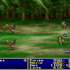 Maria and Leila as toads in <i>Final Fantasy II</i> (PS).