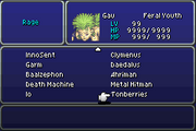 FFVI GBA Tonberries Rage on Menu