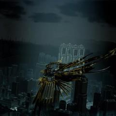 Багамут летит над Инсомнией.