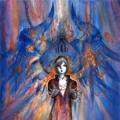 Arte da capa de Chains of Promathia caracterizando Selh'teus.