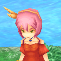 <i>Final Fantasy IV</i> dancing girl (iOS).