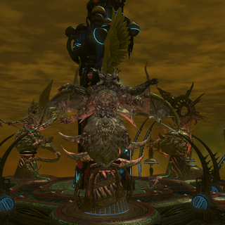 The statue of Sephirot, the Fiend in <a href=