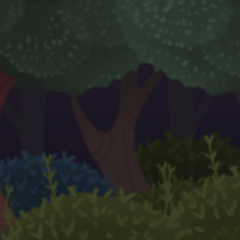 Forest background in <i><a href=