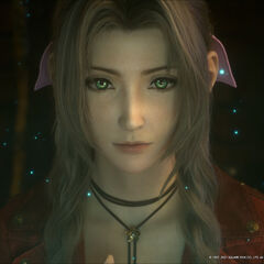 Aerith opens her eyes.