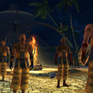 The Aurochs' players in the <i>Final Fantasy X</i> ending.