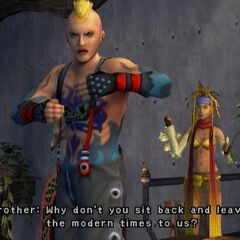Brother with Rikku in <i>Final Fantasy X-2</i>.