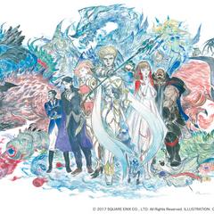 Promotional artwork by Yoshitaka Amano.