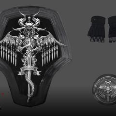 Artwork of Kingsglaive accessories.