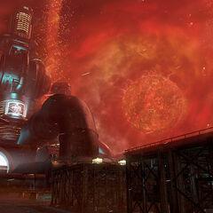 Мидгар во время падения Метеора.