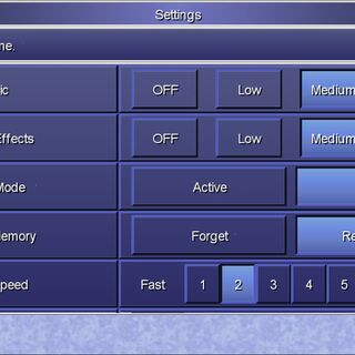 The Settings menu in the Steam version.