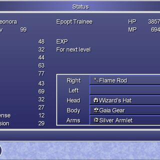 The Status menu in the Steam version.