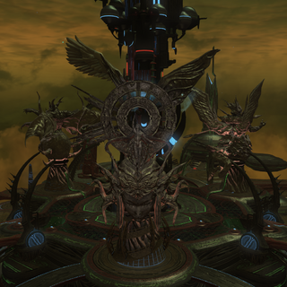Warring Triad statues in Azys Lla.