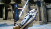 Noctis inherits the Blade of the Mystic in FFXV