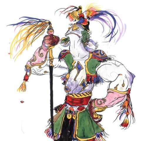 Amano artwork of Baigan.