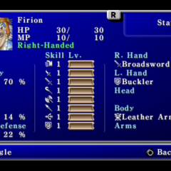 First page of the Status menu (PSP)