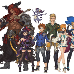 Artwork of the main characters (<i>Original</i>).