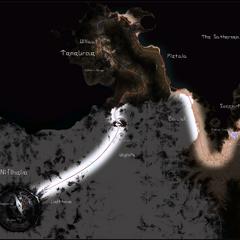 Карта Нифльхейма в игре.