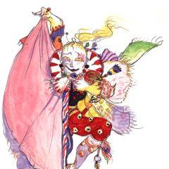 Рисунок Ёситаки Амано в стиле чиби.