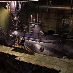 Gray submarine.